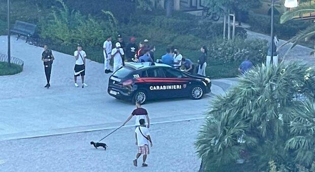 Una delle bande giovanili controllate dai carabinieri
