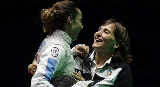 Giovanna Trillini nella nuova veste di coach
