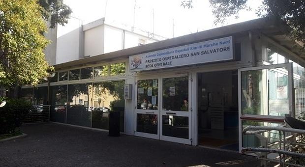 L'ingresso dell'ospedale di Pesaro di Marche Nord