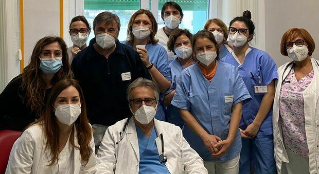 Lo staff dell Unità operativa di Cardiologia dell ospedale Madonna del Soccorso diretto dal dottor Maurizio Parato