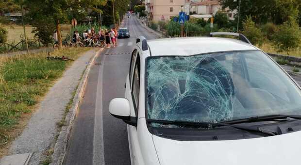 La Fiat Panda coinvolta dell'incidente