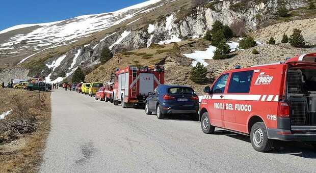 I soccorritori sul monte Vettore