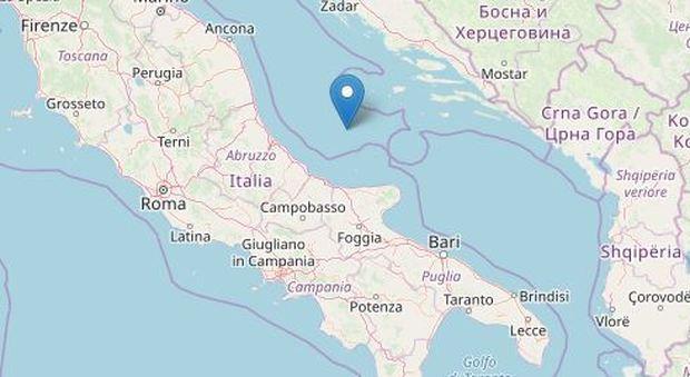 Terremoto 3.0 in mare al largo dell'Abruzzo, avvertito sulla costa