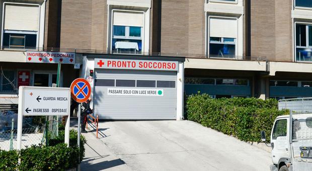Il pronto soccorso dell'ospedale di Macerata