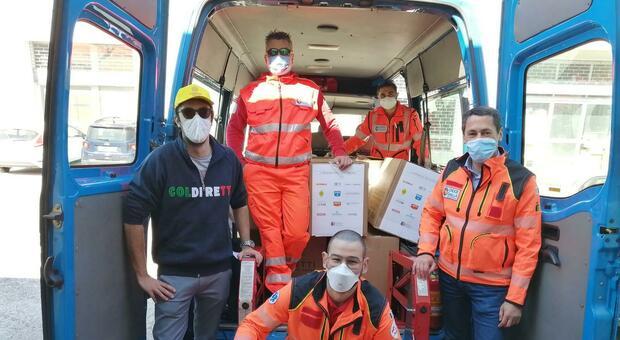 Coldiretti e Croce Gialla Ancona in campo: operazione solidarietà con i pacchi alimentari per 15 famiglie anconetane in difficoltà