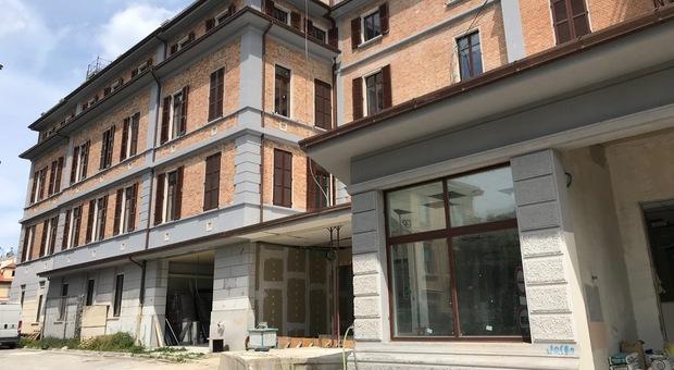 I due padiglioni in costruzione all'ex ospedale Umberto I