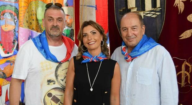 Il caposestiere Luigi De Santis, la dama Stefania Damiani e il console Luigi Tulli
