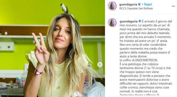 Guenda Goria ricoverata per endometriosi come Giorgia Soleri. Il post prima dell'intervento: «Pensatemi»