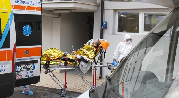 Il pronto soccorso dell'ospedale Murri a Fermo