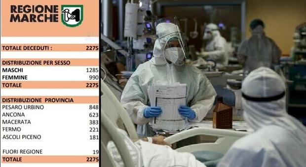 Coronavirus, in un giorno 16 morti nelle Marche, tra le vittime una donna di 59 anni. Più di 20mila in isolamento