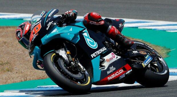Moto Gp, a Jerez vince Quartararo davanti a Vinales, terzo Valentino Rossi che torna sul podio