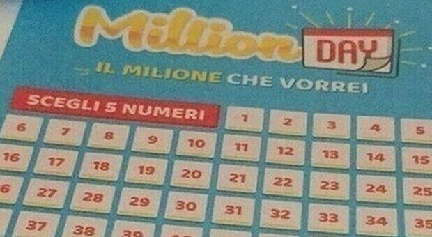 Million Day, i numeri vincenti di oggi