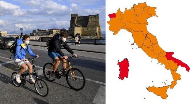 Lombardia, Lazio e Veneto zona gialla con altre 8 regioni dal 26/4. Puglia rossa, Campania in bilico