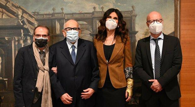 Aldo Salvi, Francesco Merloni, la figlia Francesca e Marcello Tavio