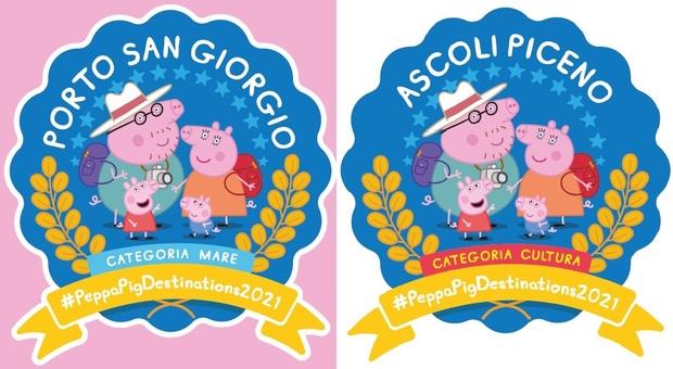 """Vacanze """"Family Friendly"""": Ascoli e Porto San Giorgio conquistano il bollino di Peppa Pig"""