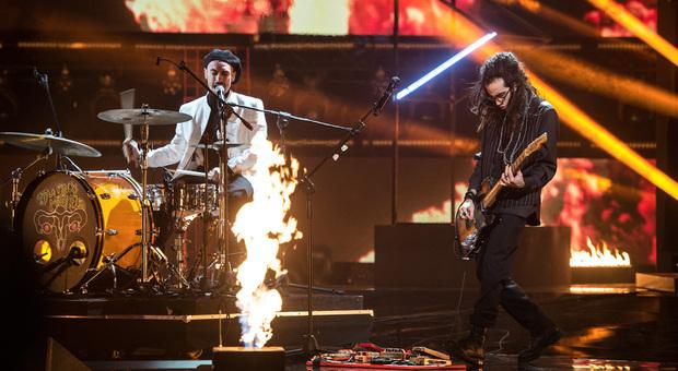 I Little Pieces Of Marmelade sul palco di X Factor nella serata finale