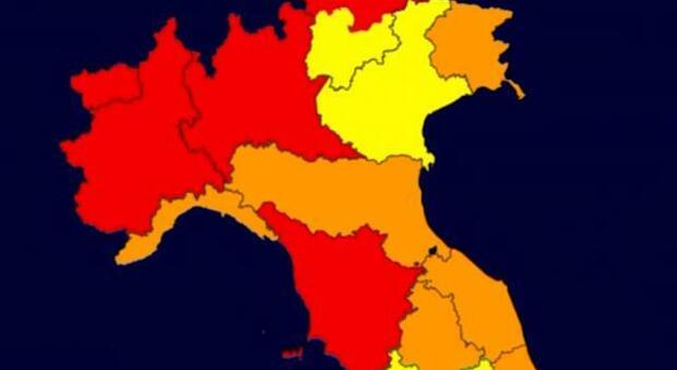 Italia divisa in zone