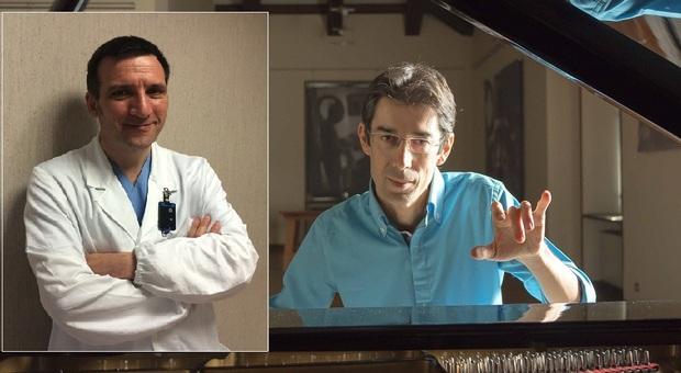 Il dottor Roberto Trignani e il maestro Emiliano Toso