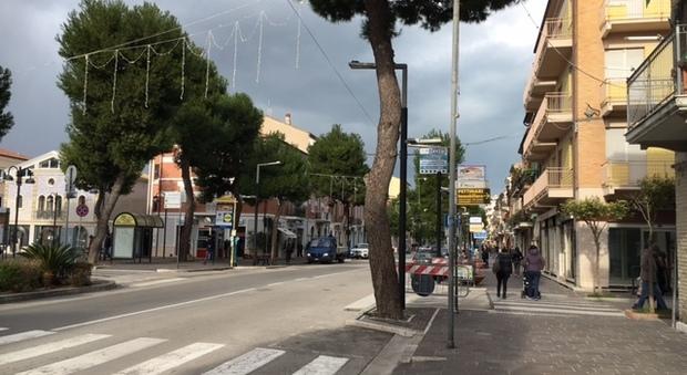 Una veduta del centro di Porto Recanati