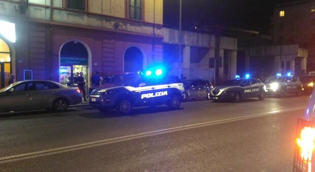 Le pattuglie della polizia sulla Flaminia ad Ancona
