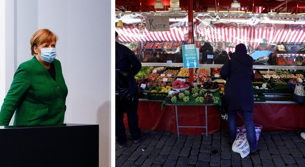 Covid, lockdown duro in Germania: Merkel vuole chiudere anche i supermercati 5 giorni