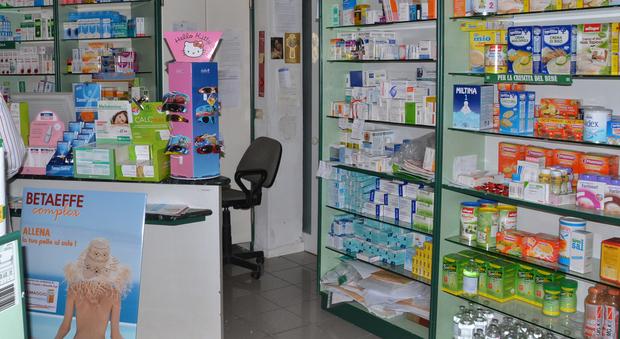 L'interno di una farmacia
