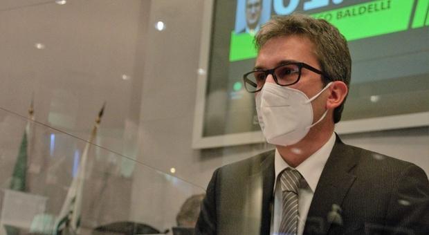 L'assessore regionale dall'edilizia sanitaria Francesco Baldelli