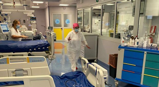 Il reparto di Rianimazione dell'ospedale Madonna del Soccorso di San Benedetto