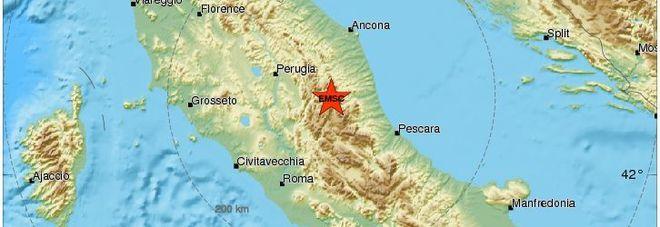 Forte scossa di terremoto all'alba, torna la paura in Centro Italia (EMSC)