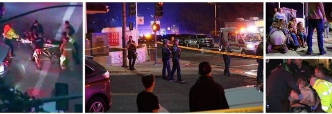 Los Angeles, entra in un bar di universitari e spara. «Tredici morti». Era incappucciato e vestito di nero e non parlava