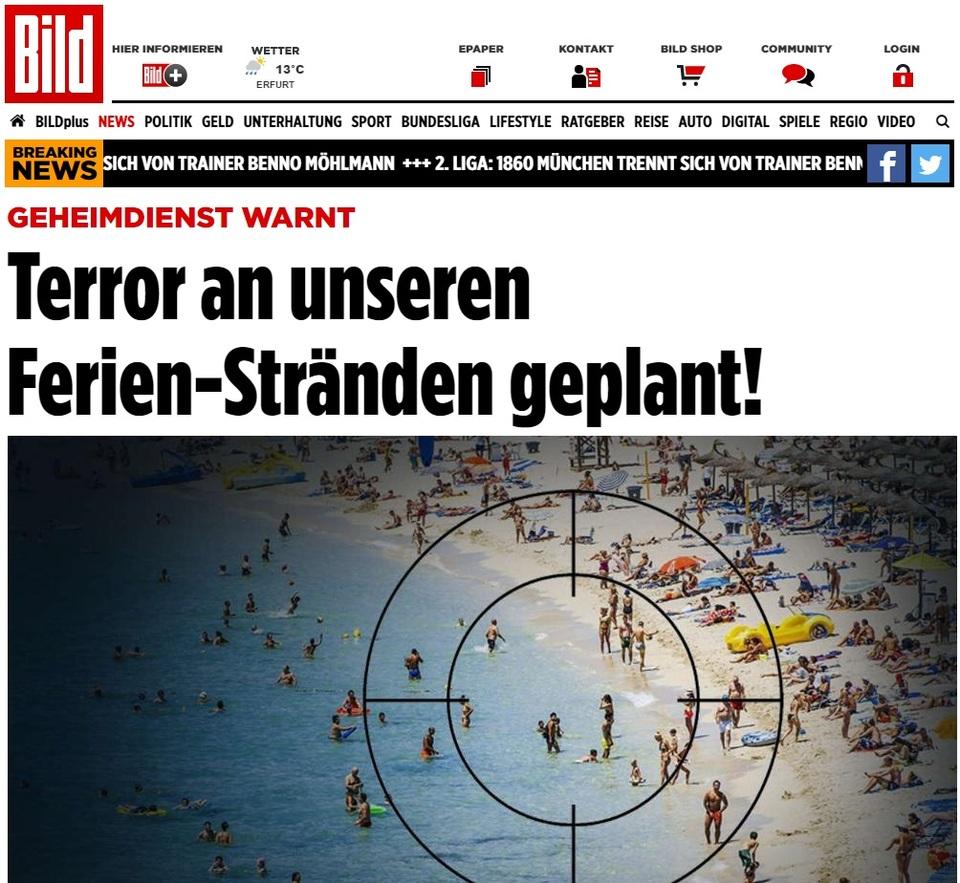 Terrorismo, Bild: possibili attentati Isis su spiagge in Italia