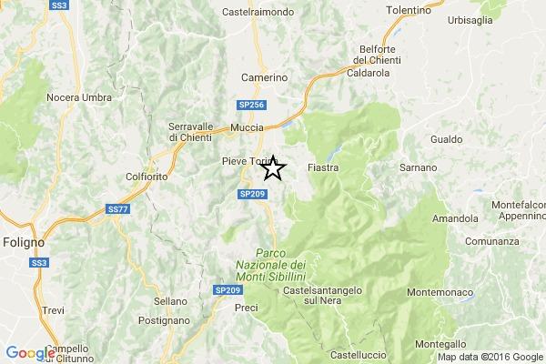 Centro Italia. La terra trema ancora. Scossa di magnitudo 4.4
